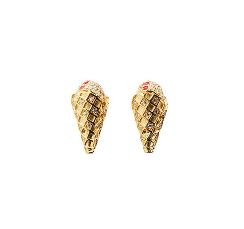 Diamond Cone Earring