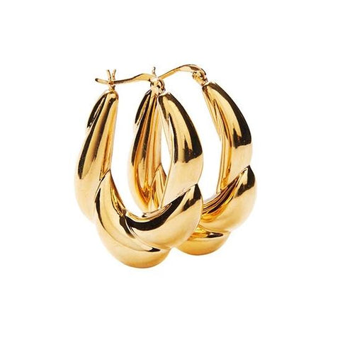Carine Hoops - Gold