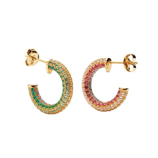 Caro Crystal Stud - Gold