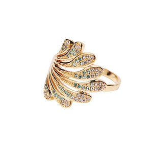 Margot Crystal Ring - Aqua