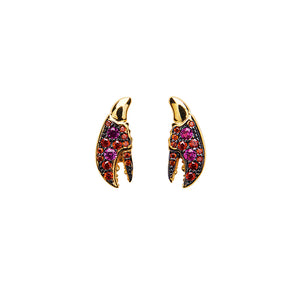 Lobster Crystal Stud