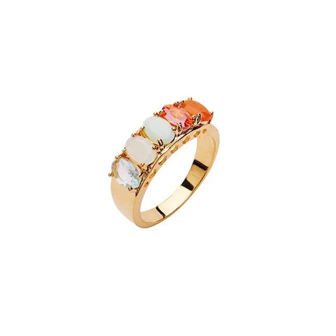 Janet Crystal Ring - Red Mix