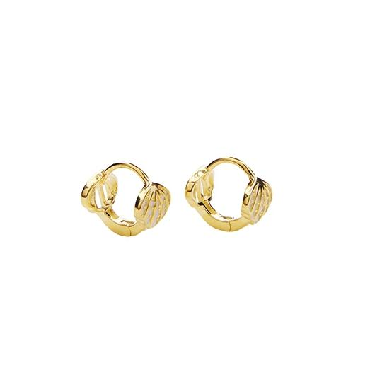 Sea Crystal Hoops
