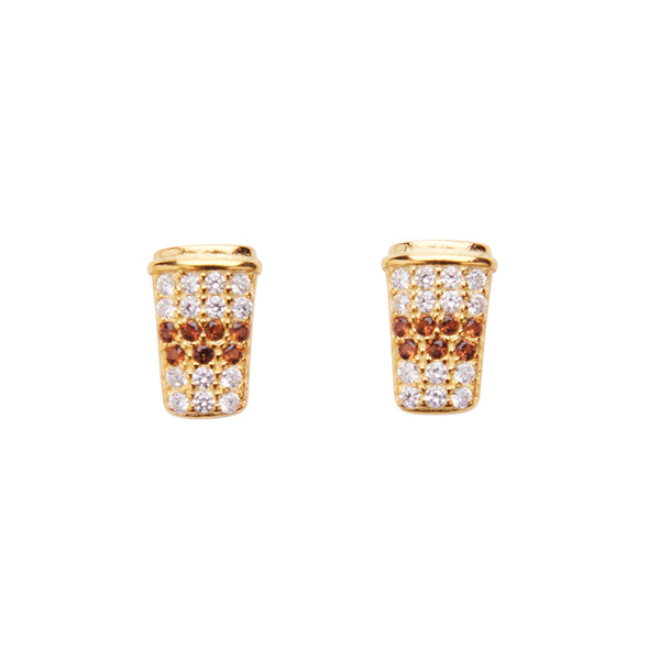 Latte Crystal Stud