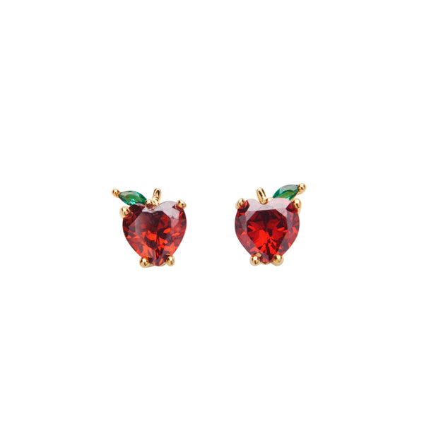Apple Crystal Stud