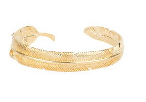 Feather Bracelet - Gold