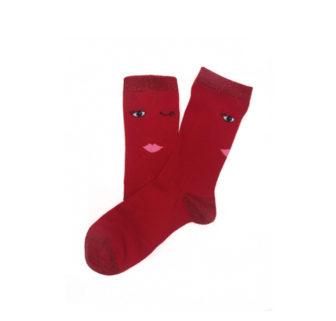 Wink Socks - Red