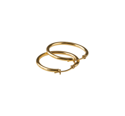 Basic Medium Hoop - Gold