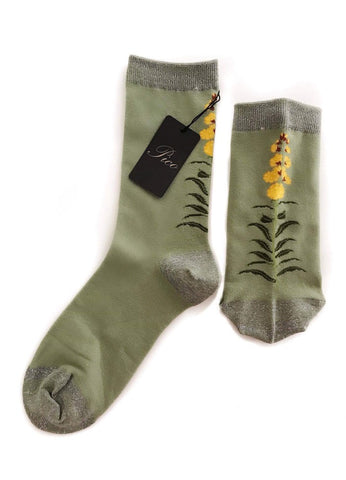 Yellow Flower Sock