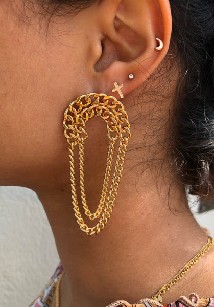 Curb Earrings
