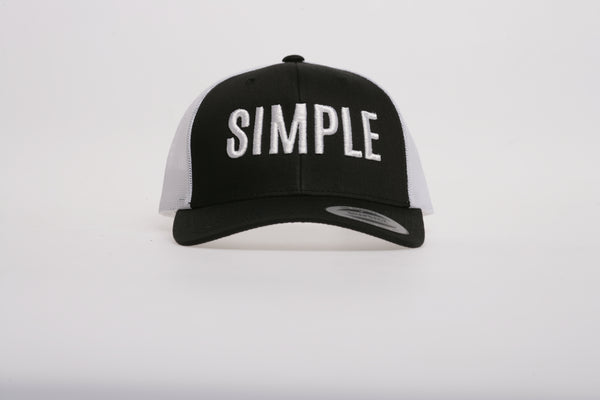 Cappello con scritta SIMPLE modello Trucker retro'
