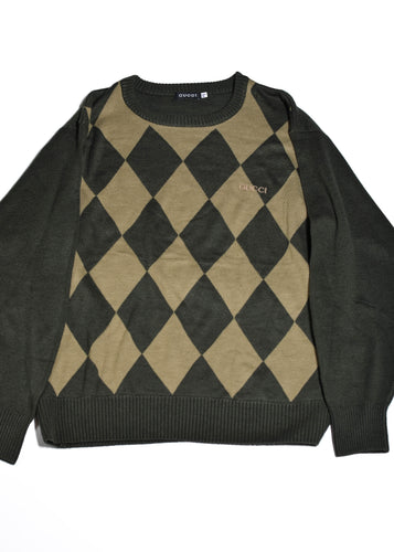 GUCCI Diamond Check Jumper in Size X Large