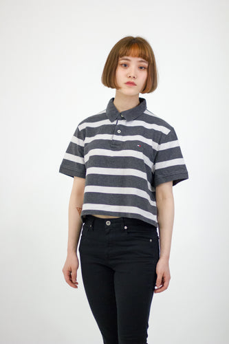 REMIX Tommy Hilfiger Crop Polo Tee
