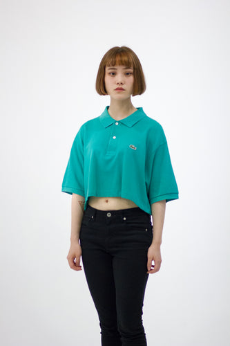 REMIX Lacoste Crop Polo Tee
