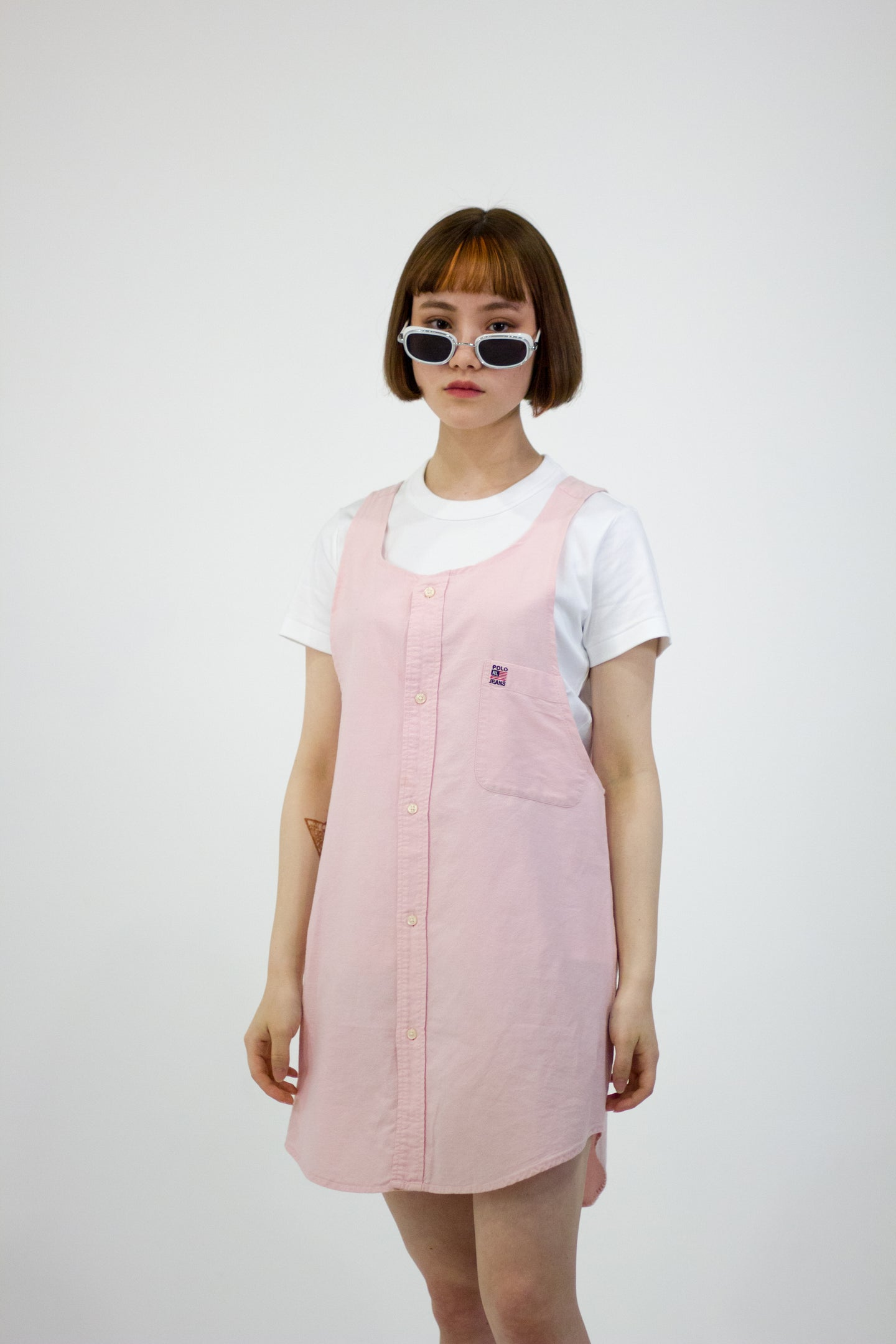 Reworked Ralph Lauren Pinafore Dress
