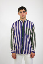 Multi Stripe Long Sleeve Shirt in Size Large
