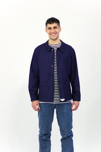 Navy French Work Wear Jacket Size M/L