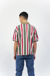 Northern Element Stripe Collar Shirt in Size Medium