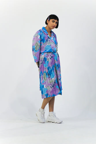Watercolour Floral Midi Dress in Size 10