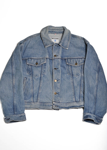 MOSCHINO Jeans Denim Jacket in Size Large