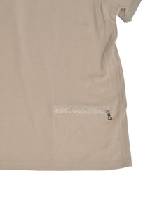 PRADA Beige Polo T Shirt in Size Large