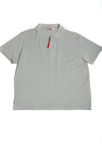 PRADA Grey Polo T Shirt in Size Large