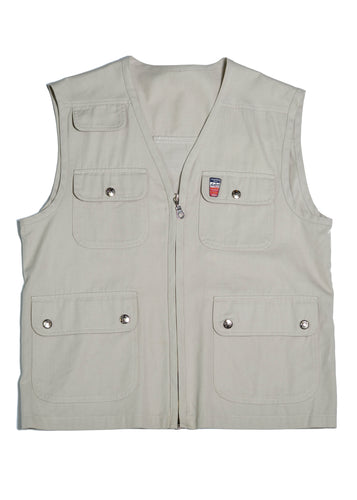 Beige Hunting Vest in Size Medium