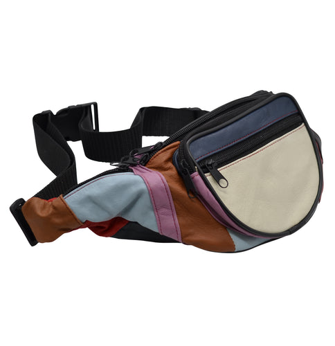 Patchwork Leather Bum Bag
