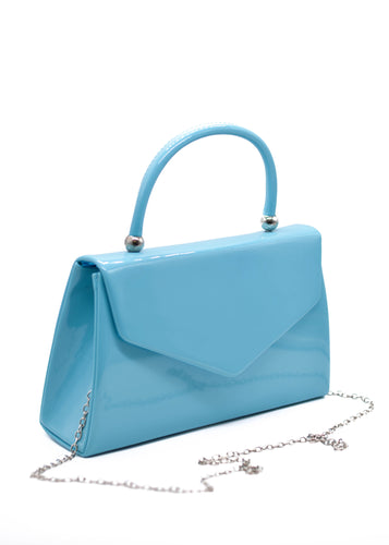 Patent Mini Bag in Baby Blue