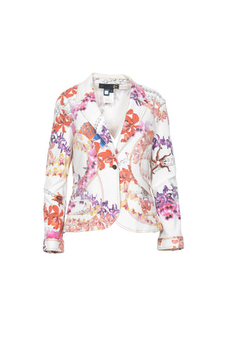 Just Cavalli Printed Blazer in Size Extra Large