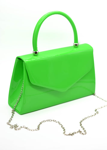 Patent Mini Bag in Neon Green