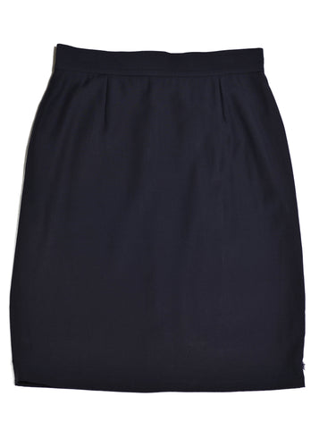 MOSCHINO Cheap & Chic Navy Pencil Skirt in Size 14