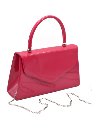Patent Mini Bag in Hot Pink