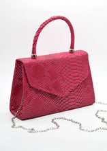 Patent Mini Bag in Magenta Snake Print