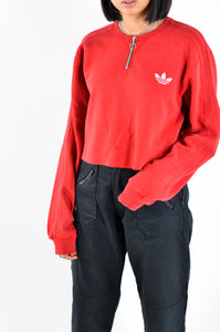 ADIDAS Zip Crop Sweat in Size Medium
