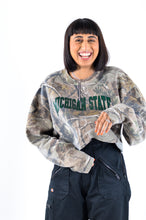 Michigan State Camo Zip Crop Sweat in Size Large