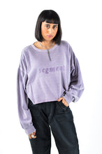 Segment Logo Zip Crop Sweat in Size Medium