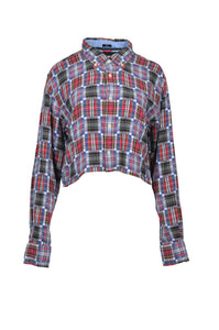 REMIX Crop Flannel Shirt by Tommy Hilfiger