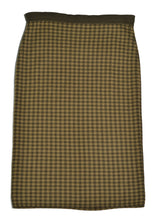 Roccobarocco Check Wool Midi Skirt in Size 14
