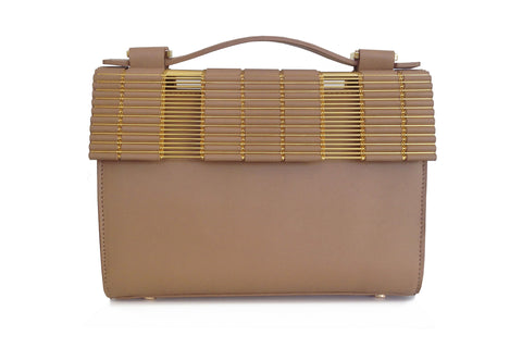Kate Box Satchel Blush with Leather Strap