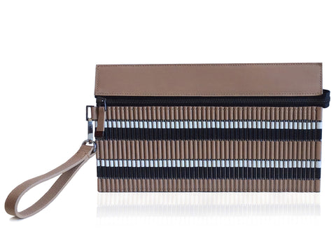 Armita Wall Pochette Nude, White and Black
