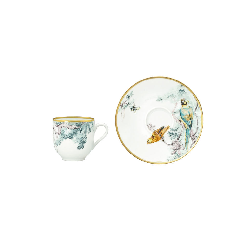 "Coffee Cup and Saucer ""Carnets d'Équateur"" - Hermes"