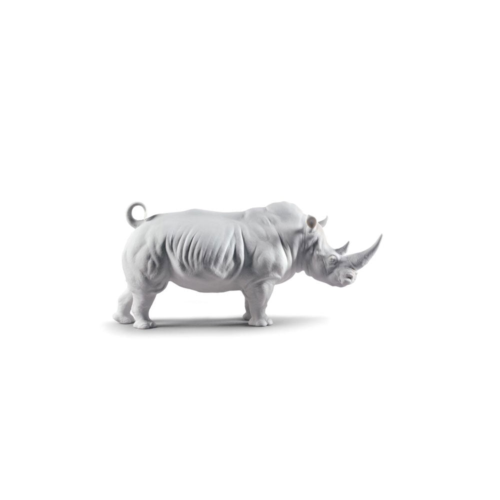 "Sculpture ""White Rhino"" - Lladro"