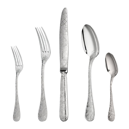 Christofle Perles Silver plated dinner forks Set of six