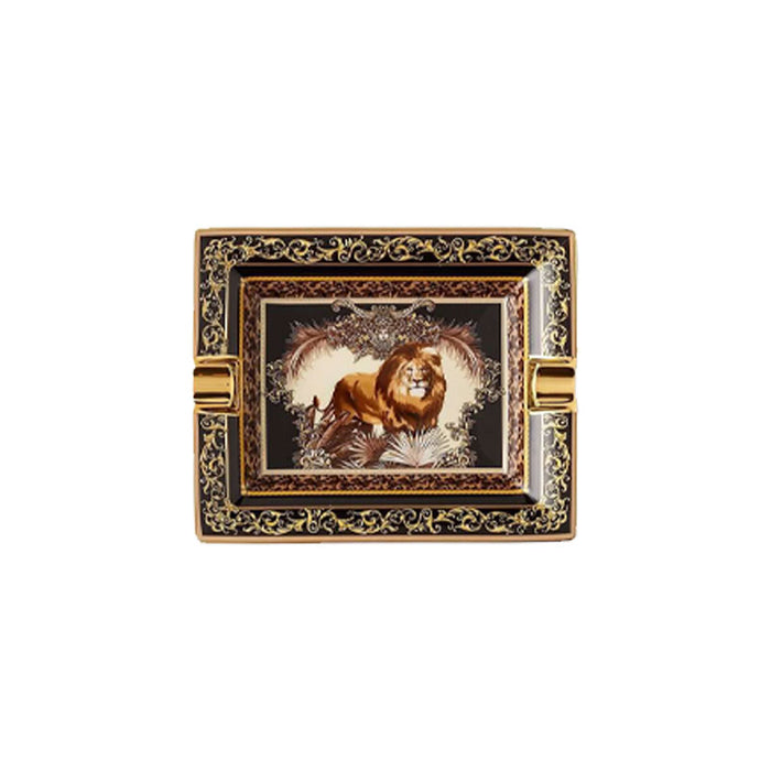 "Rectangular Ashtray Lion ""Le Regne Animal"" - Versace"