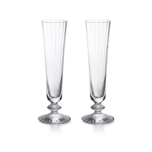 "Champagne Flute Glass (Set x2) ""Mille Nuits"" - Baccarat"