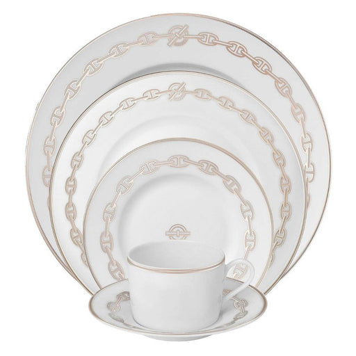 "Bread & Butter Plate ""Chaine d'Ancre Platinum"" - Hermes"
