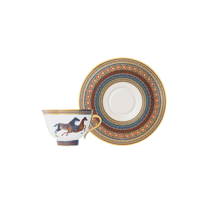"Tea Cup and Saucer ""Cheval d'Orient"" - Hermes"