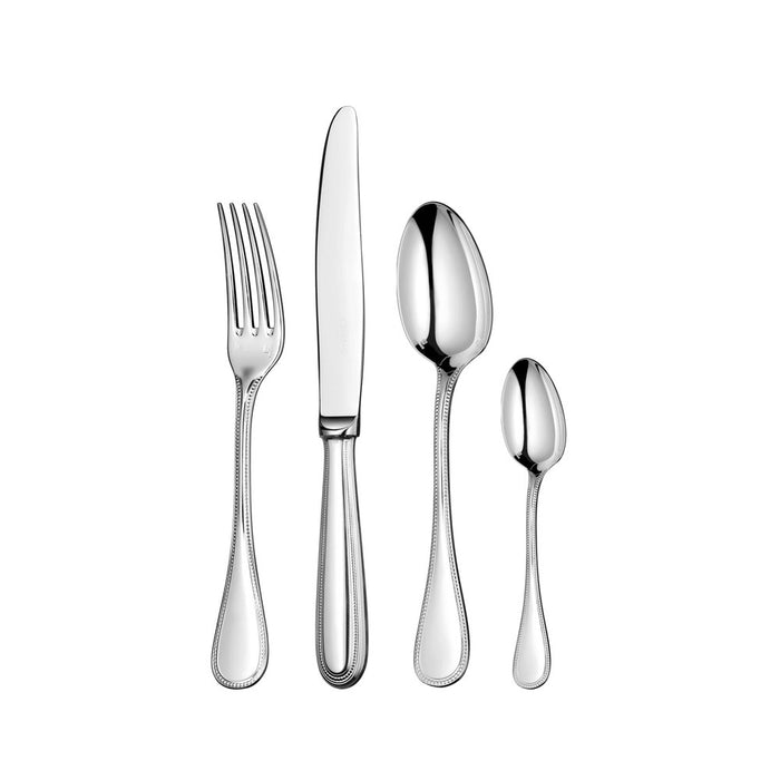 "110-Piece Stainless Steel Flatware Set with Chest ""Perles"" - Christofle"