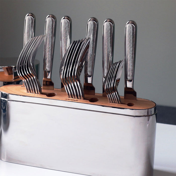 "Stainless Steel 24 Piece Set for 6 people ""Concorde"" - Christofle"